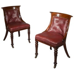 Set of Eight Regency Klismos Dining Chairs