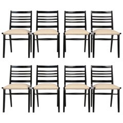 Set of Eight Mid-Century Dining Chairs
