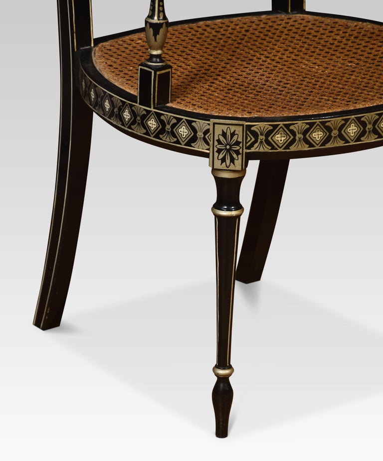 British Set of Eight Regency Style Dining Chairs For Sale