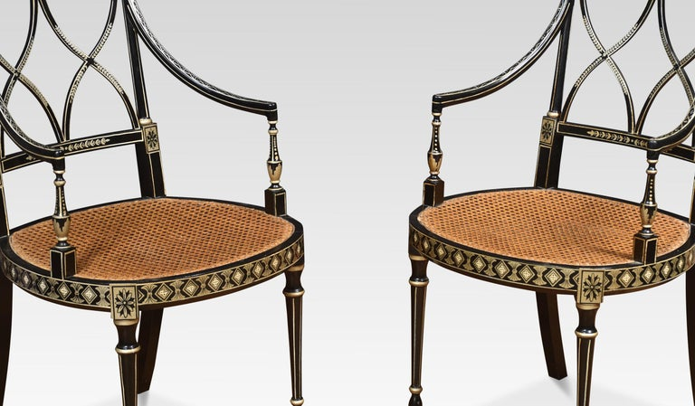 Set of Eight Regency Style Dining Chairs In Good Condition For Sale In Cheshire, GB