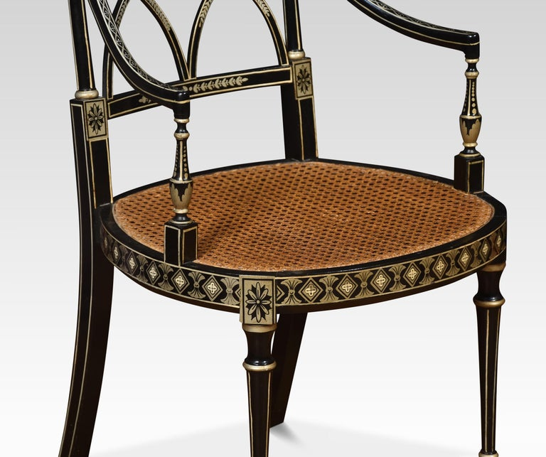 20th Century Set of Eight Regency Style Dining Chairs For Sale