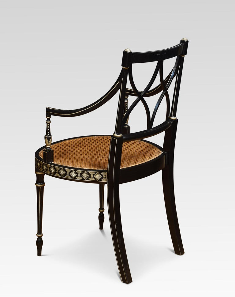 Set of Eight Regency Style Dining Chairs For Sale 1