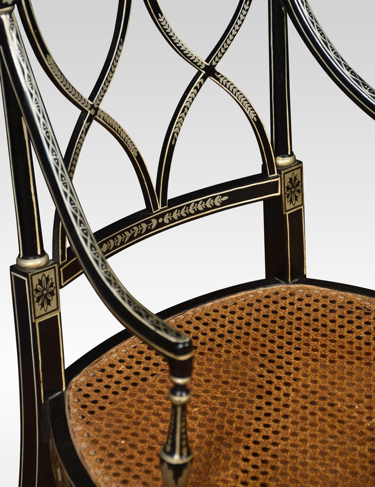 Set of Eight Regency Style Dining Chairs For Sale 2
