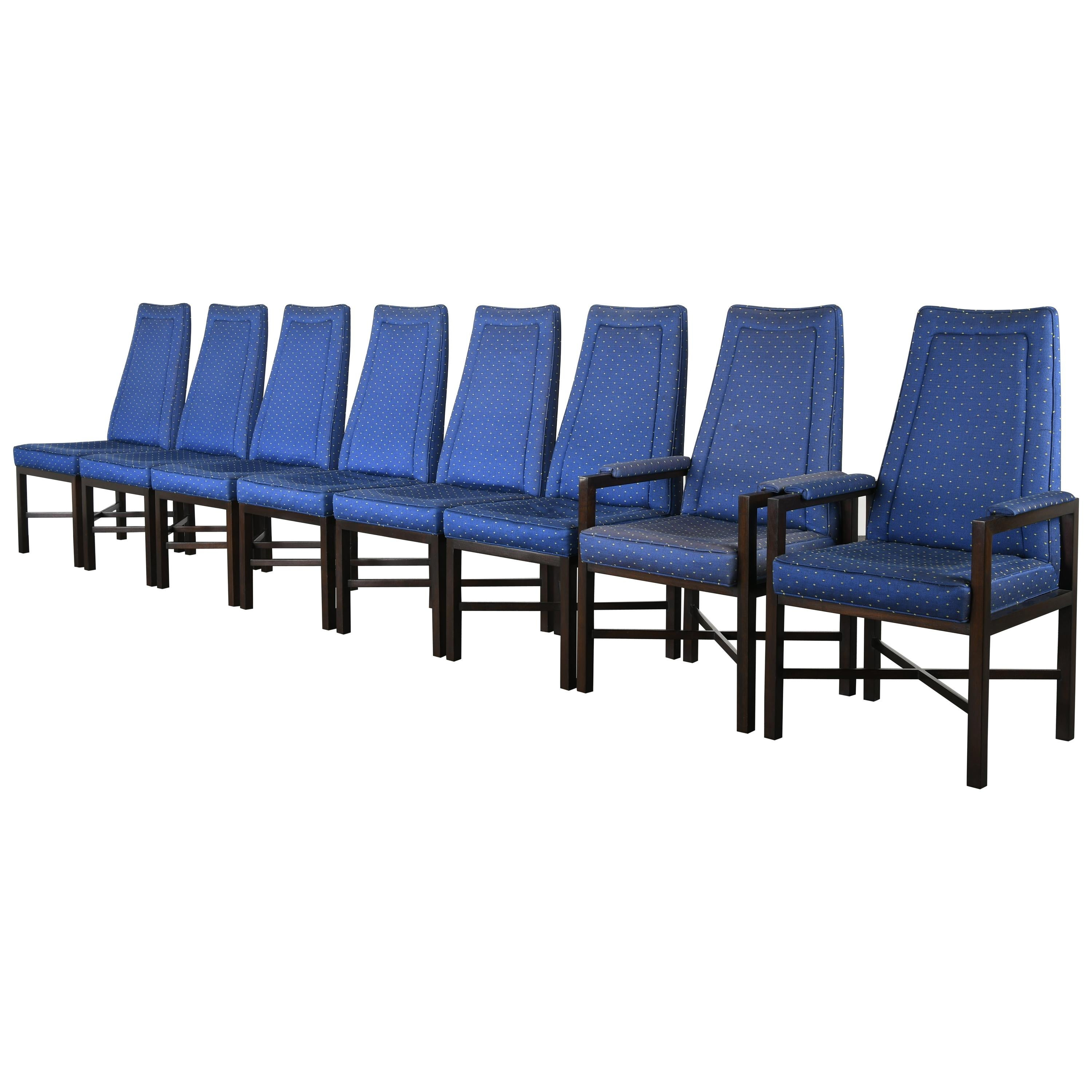 Set of Eight Roger Sprunger for Dunbar Dining Chairs, 1960s