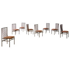 Set of Eight Rosewood Estrutural Chairs by Joaquim Tenreiro, Midcentury, Brazil