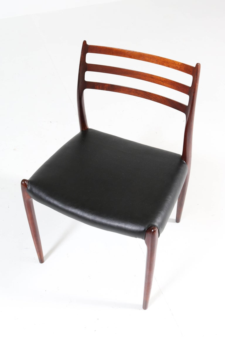 Set of Eight Rosewood Model 78 Chairs by Niels O. Møller for J.L. Møllers, 1954 For Sale 3