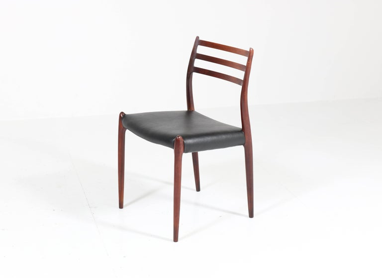 Wonderful set of eight Mid-Century Modern model 78 chairs.