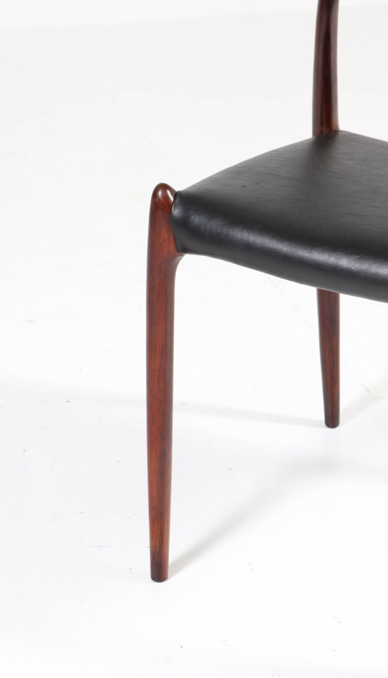 Set of Eight Rosewood Model 78 Chairs by Niels O. Møller for J.L. Møllers, 1954 For Sale 1