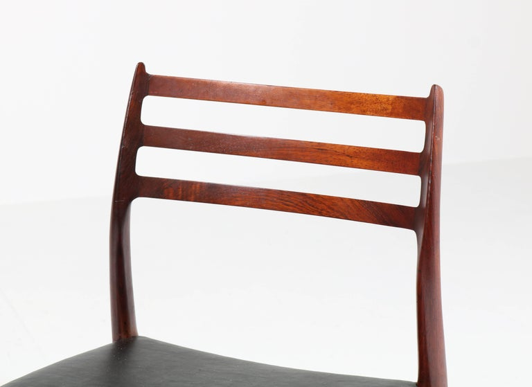 Set of Eight Rosewood Model 78 Chairs by Niels O. Møller for J.L. Møllers, 1954 For Sale 2