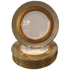 Set of Eight Royal Doulton Dinner/Service Plates, circa 1900-1920