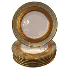Set of Eight Royal Doulton Dinner/Service Plates, circa 1900-1920
