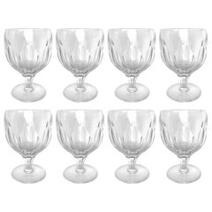Set of Eight Royal Yacht Crystal Wine Goblets