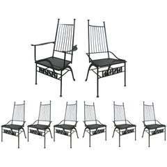 Set of Eight Salterini El Prado Chairs, circa 1950