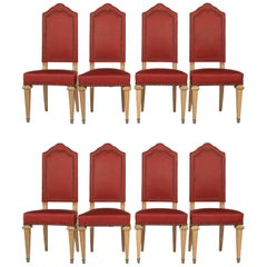 Set of Eight Spanish Style Dining Room Chairs