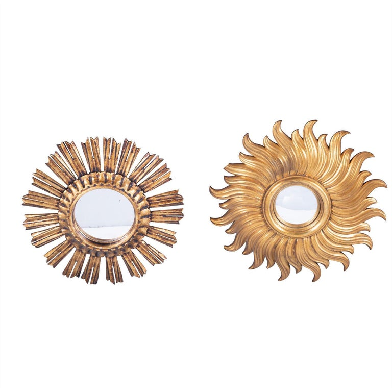 Set of Eight Spanish Sunburst Mirrors In Good Condition For Sale In Gloucestershire, GB