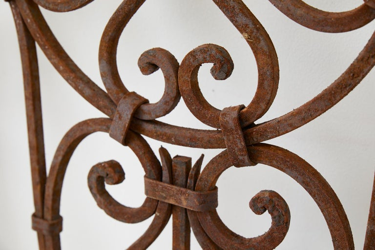 Set of Eight Spanish Wrought Iron Doors or Gates For Sale 5