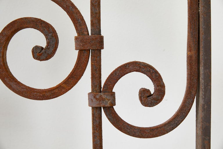 Set of Eight Spanish Wrought Iron Doors or Gates For Sale 7