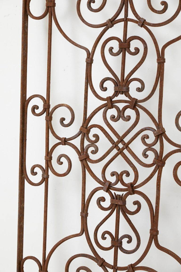 Set of Eight Spanish Wrought Iron Doors or Gates For Sale 8