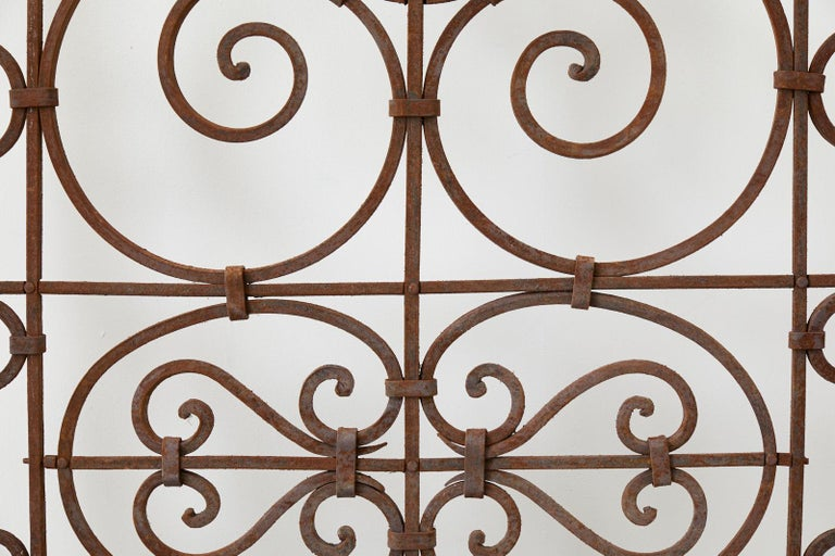 Set of Eight Spanish Wrought Iron Doors or Gates For Sale 10