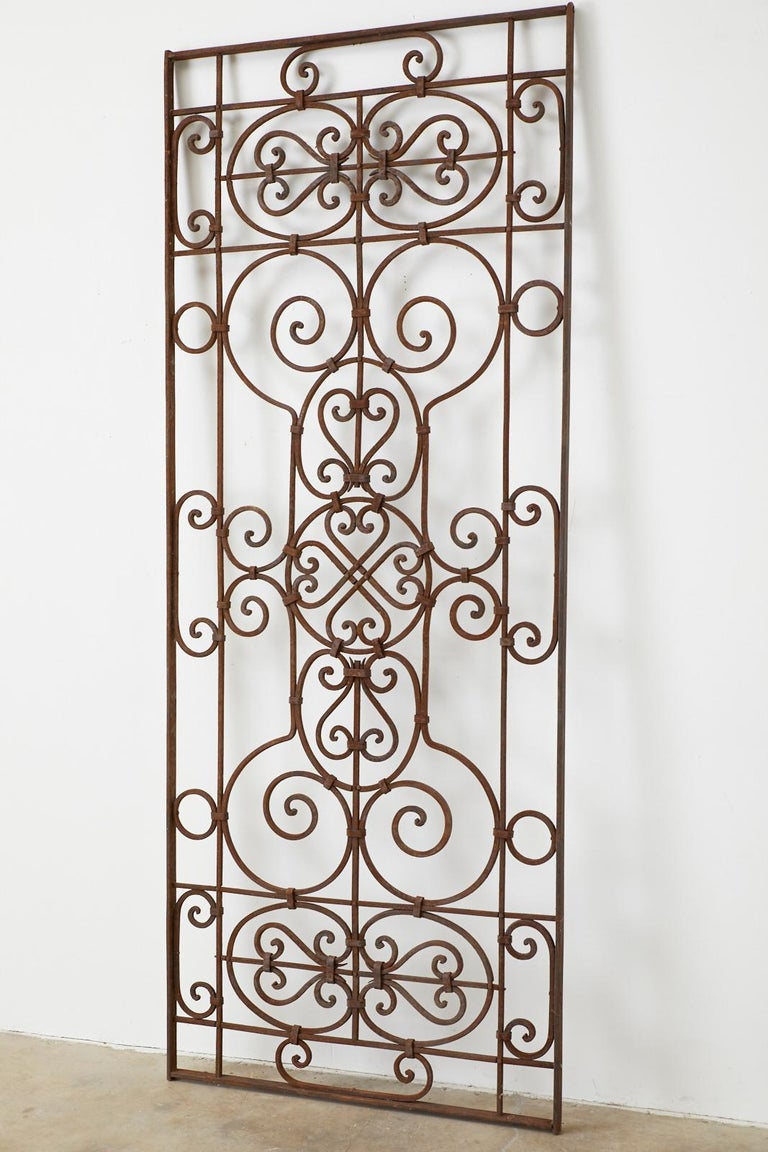 Spanish Colonial Set of Eight Spanish Wrought Iron Doors or Gates For Sale
