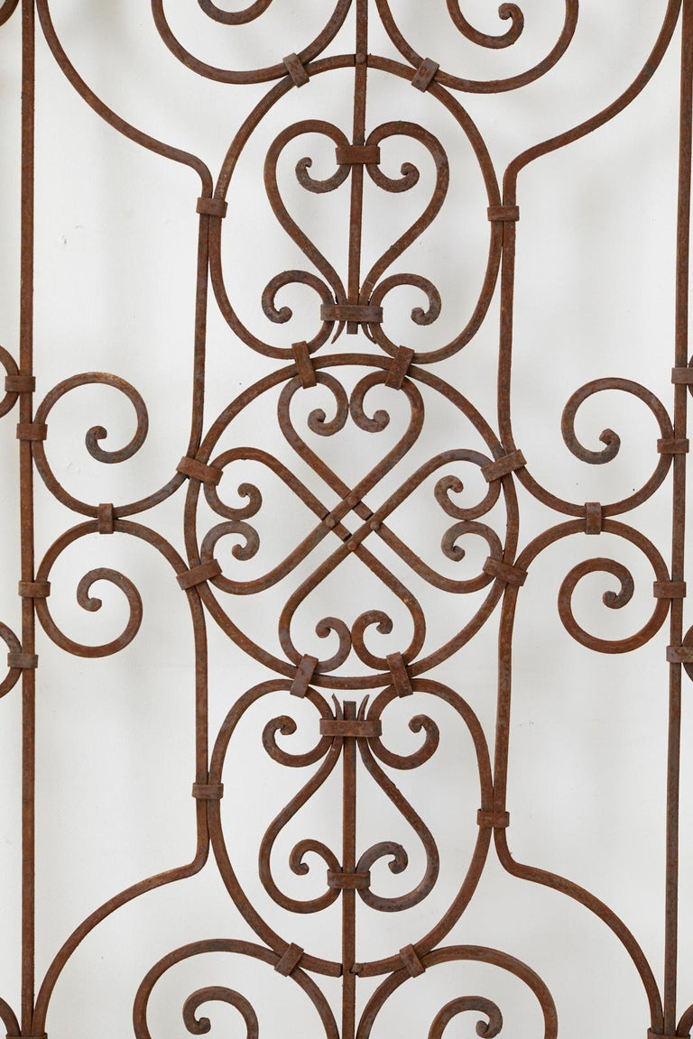 Hand-Crafted Set of Eight Spanish Wrought Iron Doors or Gates For Sale