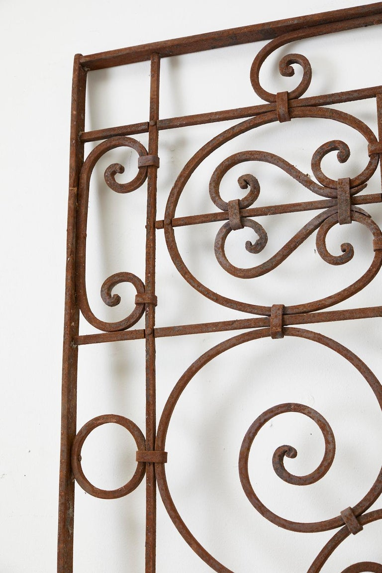 Set of Eight Spanish Wrought Iron Doors or Gates In Good Condition For Sale In Rio Vista, CA