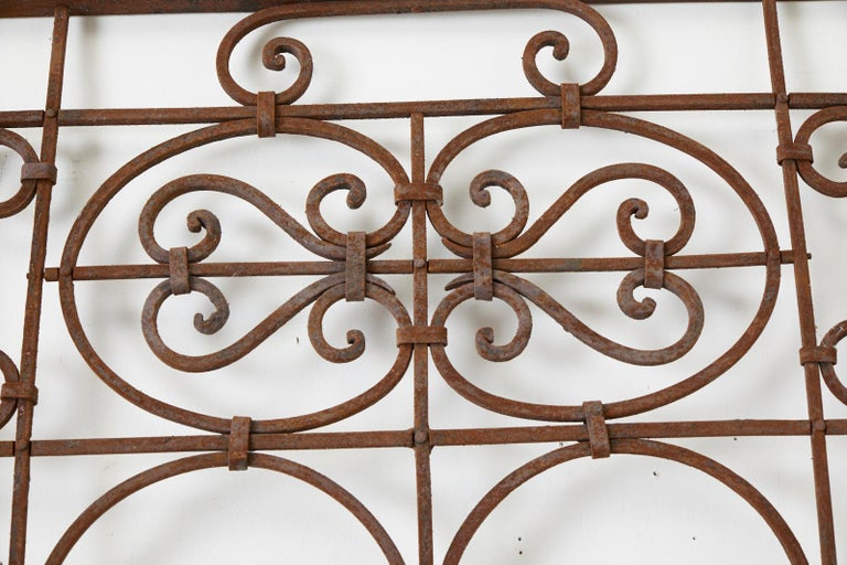 20th Century Set of Eight Spanish Wrought Iron Doors or Gates For Sale