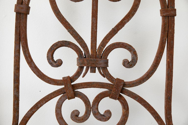 Set of Eight Spanish Wrought Iron Doors or Gates For Sale 1