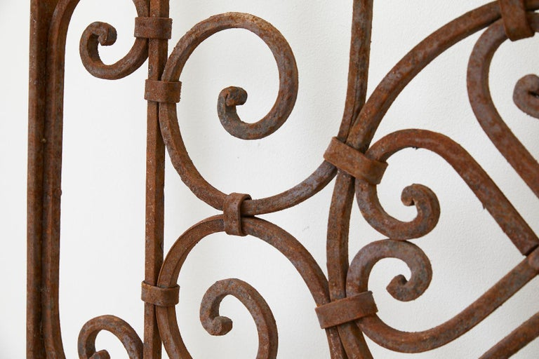 Set of Eight Spanish Wrought Iron Doors or Gates For Sale 2