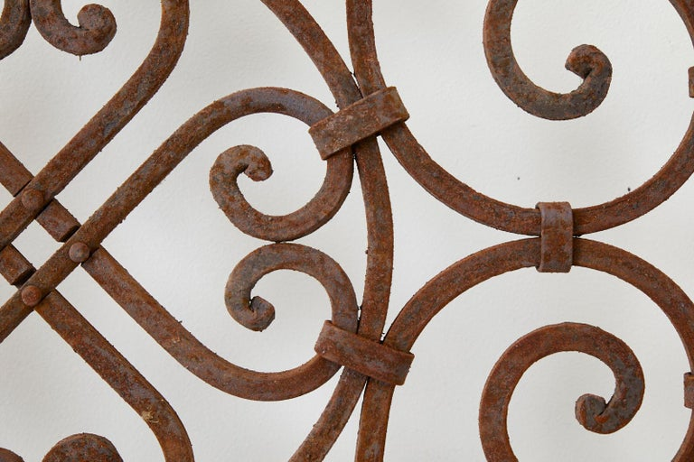 Set of Eight Spanish Wrought Iron Doors or Gates For Sale 3