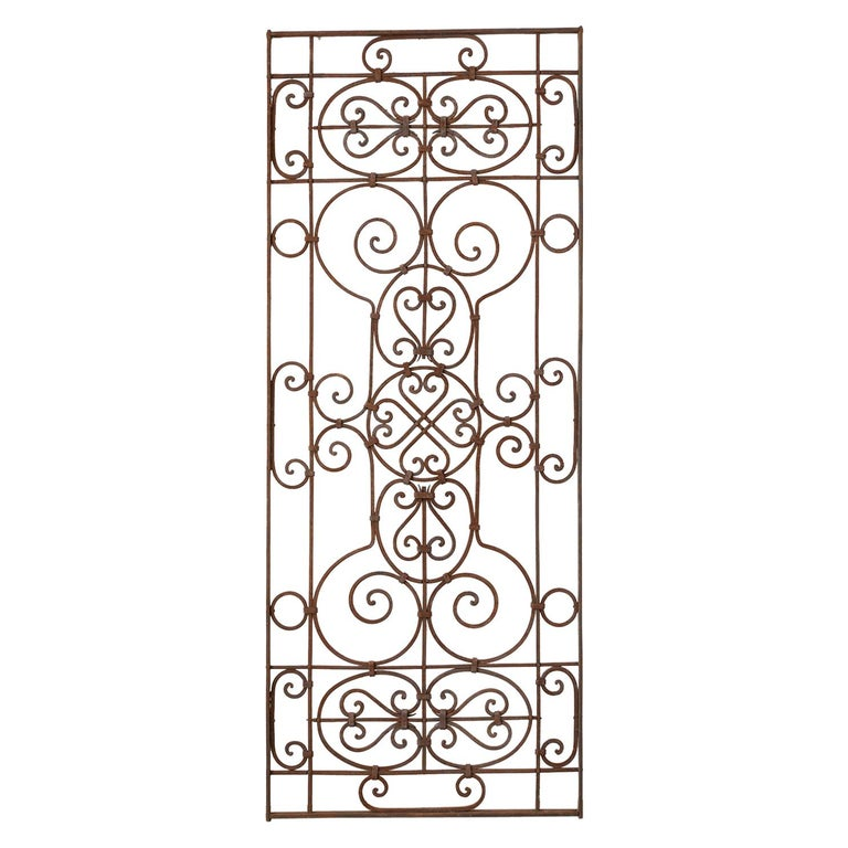 Set of Eight Spanish Wrought Iron Doors or Gates For Sale