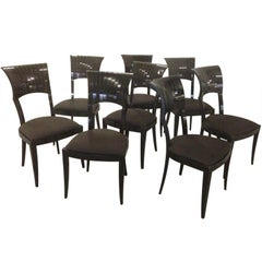 Set of Eight Spectacular Signed Dining Chairs