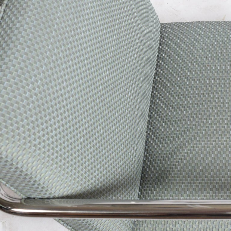 Set of Eight Stainless Steel Brno Chairs by Mies van der Rohe for Knoll Inc. In Good Condition For Sale In Dallas, TX
