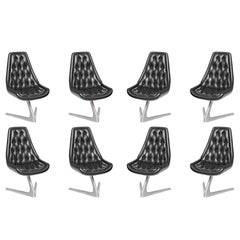 Set of Eight 'Star Trek' Sculpta Swivel Chairs by Chromcraft