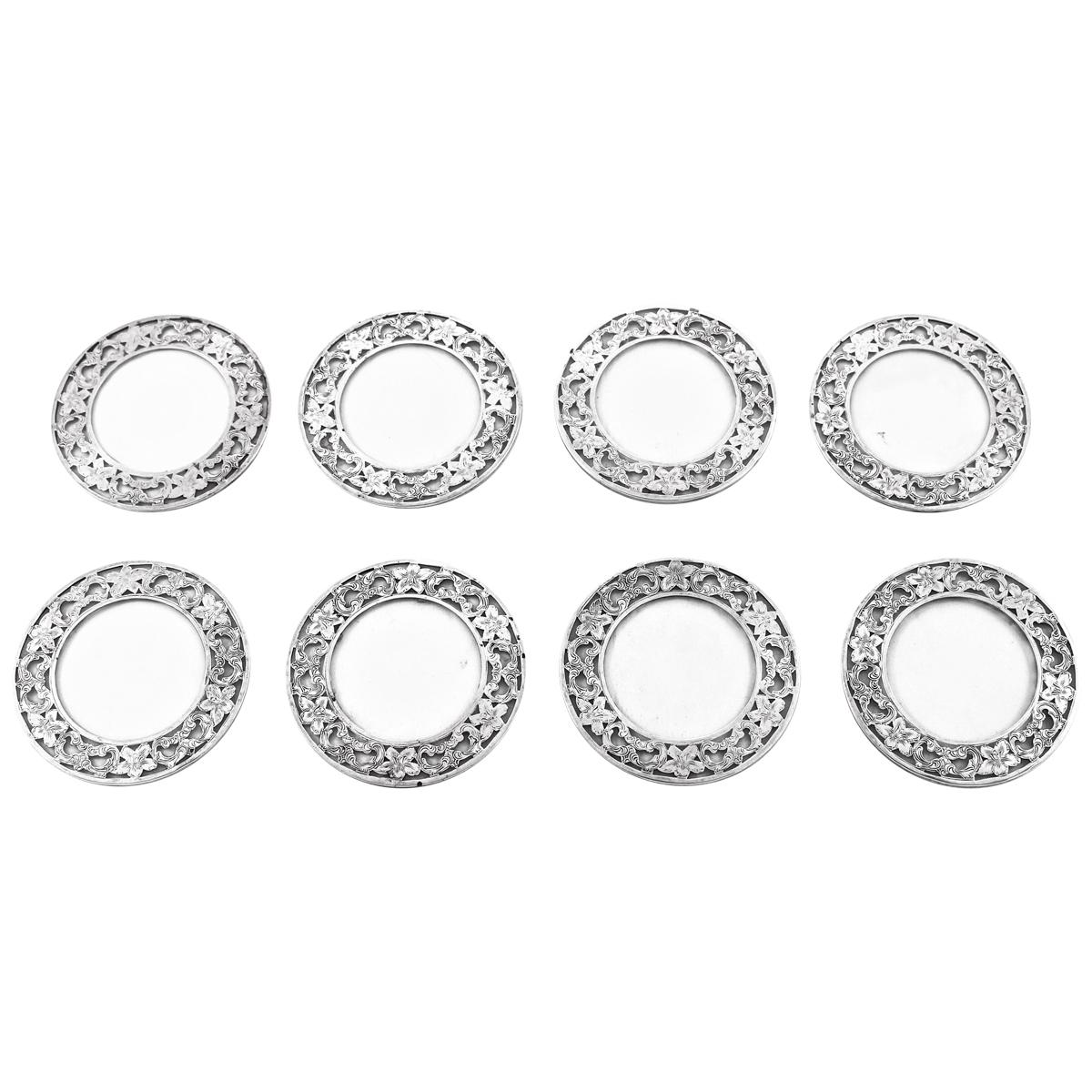Set of Eight Sterling Coasters