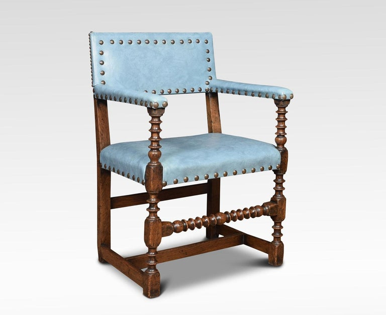 Set of Eight Substantial Oak Dining Chairs For Sale at 1stdibs