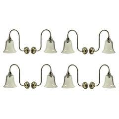 Set of Eight Swan Neck Wall Lights