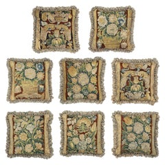 Set of Eight Tapestry Cushions, Mid-17th Century, Flemish Baroque, Verdure