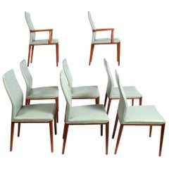 Set of Eight Teak Chairs Designed by Helge Vestergaard Jensen for Søren Horn