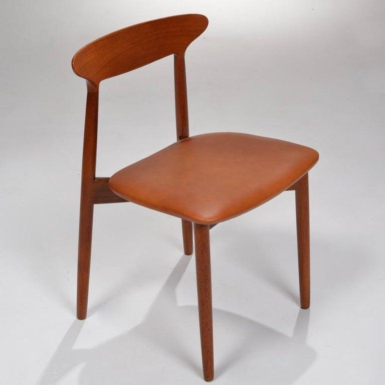 Mid-Century Modern Set of 12 Teak Dining Chairs by Harry Østergaard for Randers Møbelfabrik For Sale