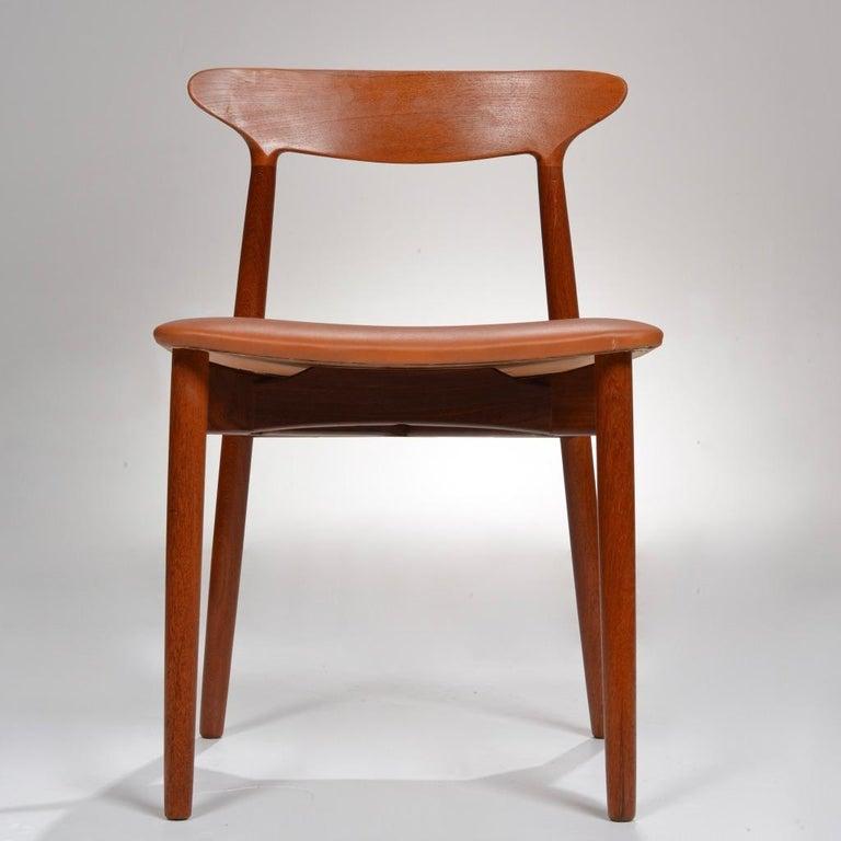 Danish Set of 12 Teak Dining Chairs by Harry Østergaard for Randers Møbelfabrik For Sale