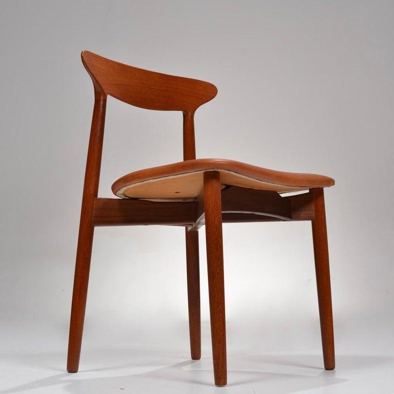 Set of 12 Teak Dining Chairs by Harry Østergaard for Randers Møbelfabrik For Sale 7