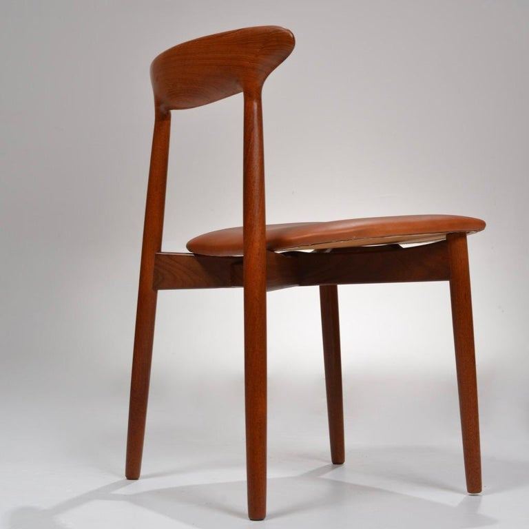 Set of 12 Teak Dining Chairs by Harry Østergaard for Randers Møbelfabrik In Good Condition For Sale In Los Angeles, CA
