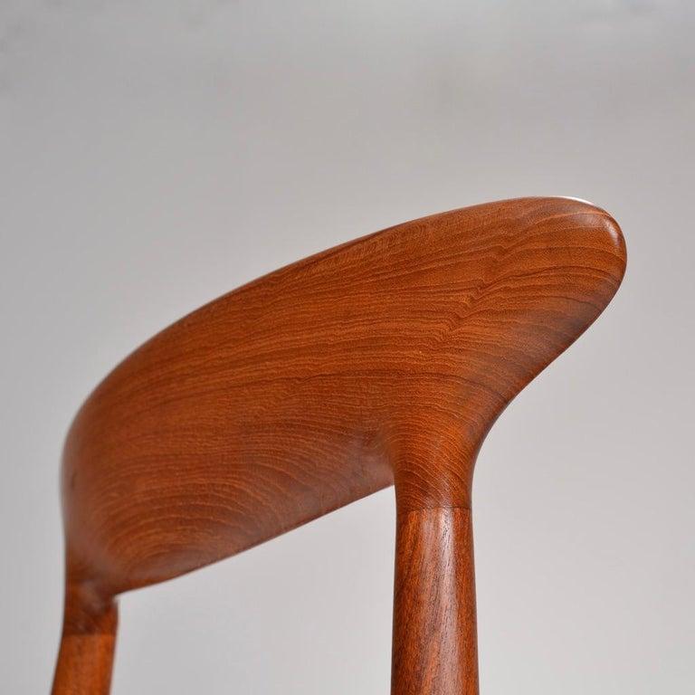 Set of 12 Teak Dining Chairs by Harry Østergaard for Randers Møbelfabrik For Sale 1