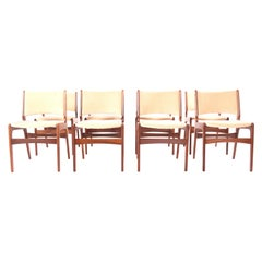 Set of Eight Teak Dining Chairs, Denmark