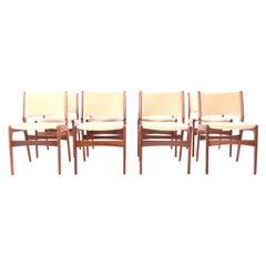 Set of Eight Teak Dining Chairs, Denmark