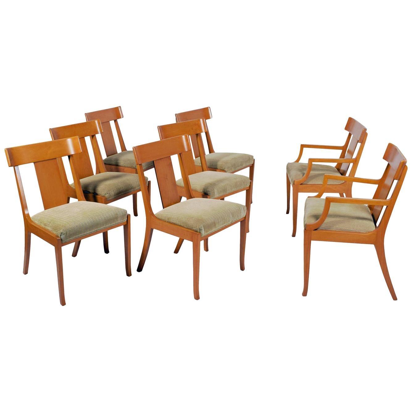 Set of Eight T.H. Robsjohn-Gibbings Dining Chairs for Widdicomb