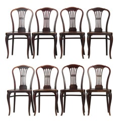 Set of Eight Thonet Chairs No. 613 by Gustav Siegel, 1920s