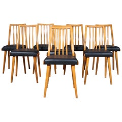 Set of Eight Thonet 'Ton' Dining Chairs, 1940s