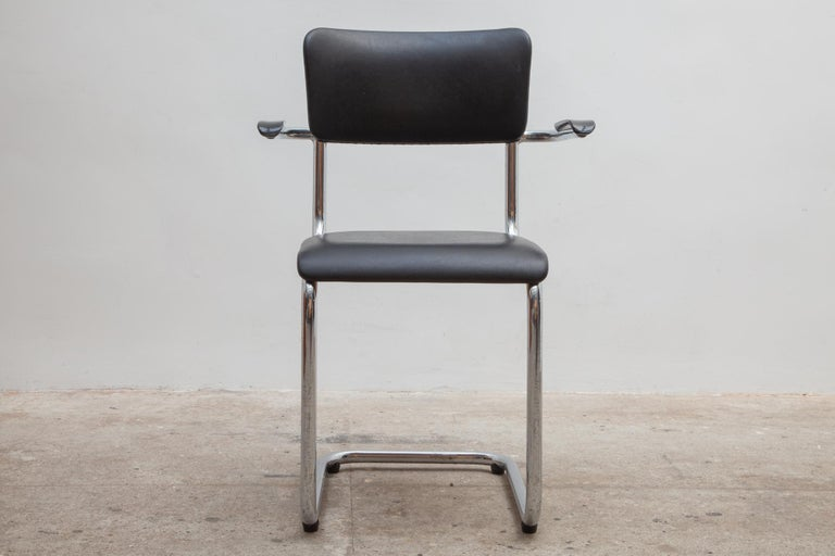 Mid-Century Modern Set of Seven Tubax Cantilever Armchairs, Belgium For Sale